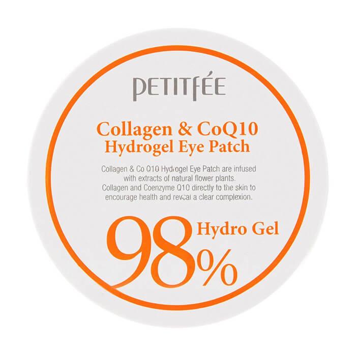 Купить Патчи для глаз Petitfee Collagen & Q10 Hydrogel Eye Patch, Гидрогелевые патчи для век с морским коллагеном и коэнзимом Q10, Южная Корея