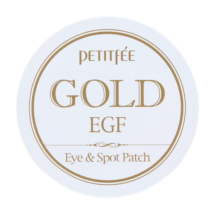 Купить Патчи для глаз Petitfee Gold & EGF Eye & Spot Patch, Гидрогелевые патчи для век с золотыми частицами и фактором роста EGF, Южная Корея