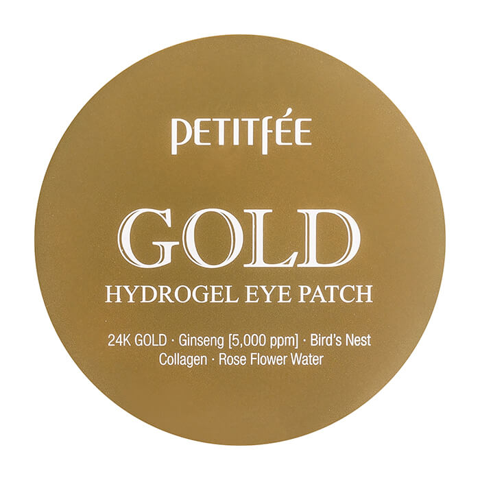 Купить Патчи для глаз Petitfee Gold Hydrogel Eye Patch, Гидрогелевые патчи для век с содержанием частиц 24-каратного золота, Южная Корея