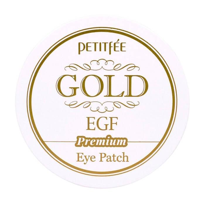 Купить Патчи для глаз Petitfee Premium Gold & EGF Eye Patch, Гидрогелевые патчи для век с золотыми частицами и фактором роста EGF, Южная Корея