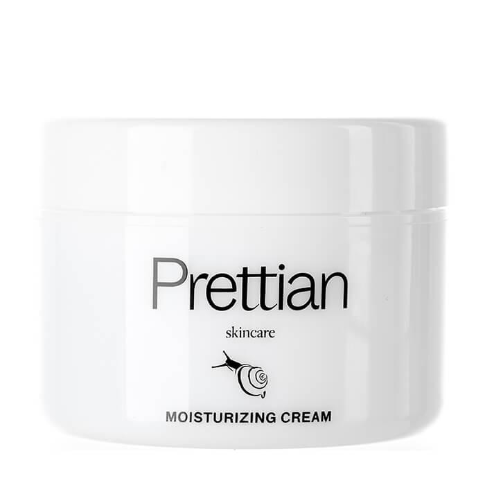 Купить Крем для лица Prettian Moisturizing Cream, Увлажняющий охлаждающий крем для кожи лица с муцином улитки и центеллой азиатской, Южная Корея