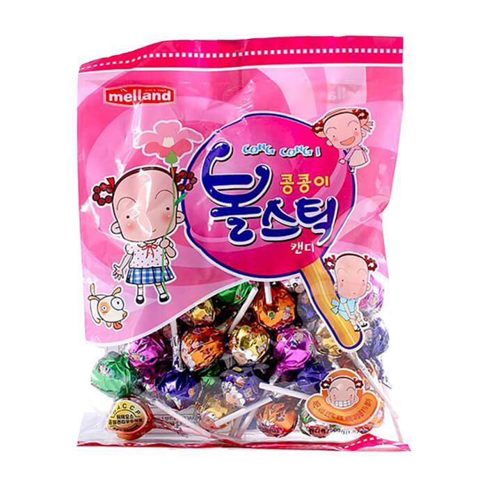 Карамель Kukje Melland Cong-Cong-I Ball Stick Candy (500 г) Карамель с натуральным вкусом различных фруктов фото