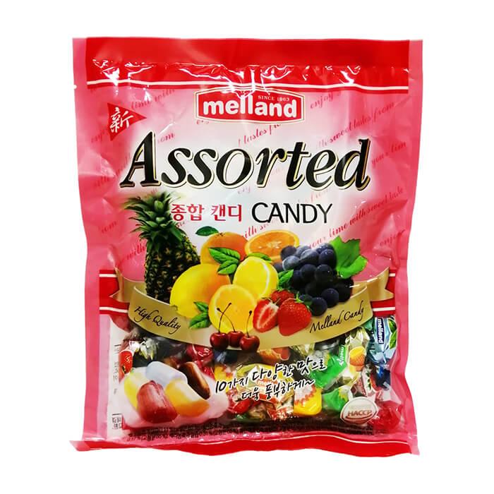 Карамель Kukje Melland New Assorted Candy Карамель с натуральным вкусом различных фруктов фото