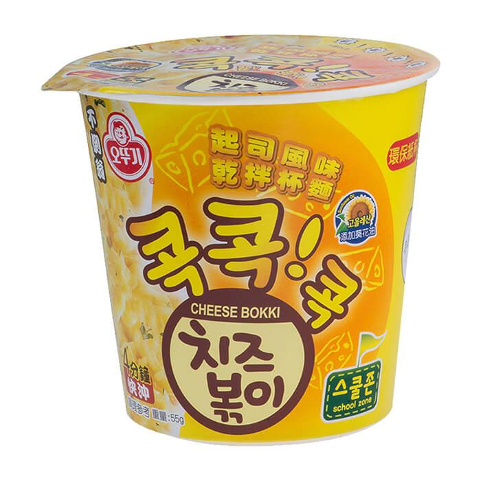 Купить Лапша быстрого приготовления Ottogi Cheese Bokki (55 г), Сублимированная лапша быстрого приготовления с сырным вкусом, Продукты, Южная Корея