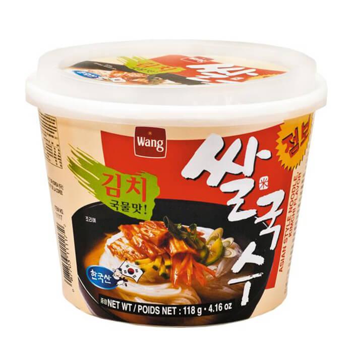 Лапша быстрого приготовления Samjin Wang Rice Noodle With Kimchi Flavor