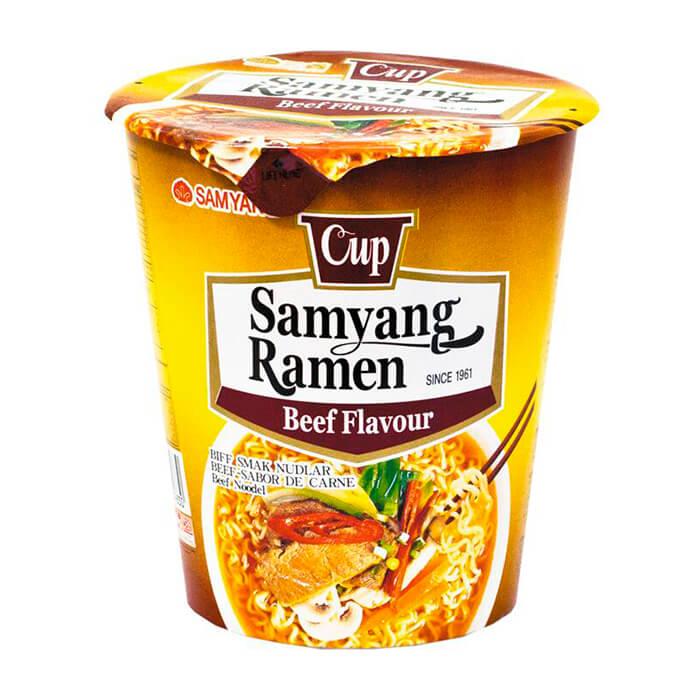 Лапша быстрого приготовления Samyang Ramen Beef Flavor