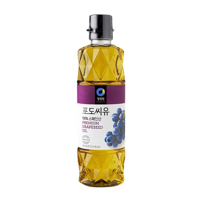Масло из виноградных косточек Daesang Premium Grapeseed Oil Масло из виноградных косточек рафинированное для заправки и жарки фото