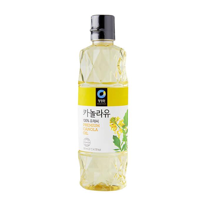 Масло каноловое Daesang Premium Canola Oil Масло из семян канолы рафинированное для заправки и жарки фото