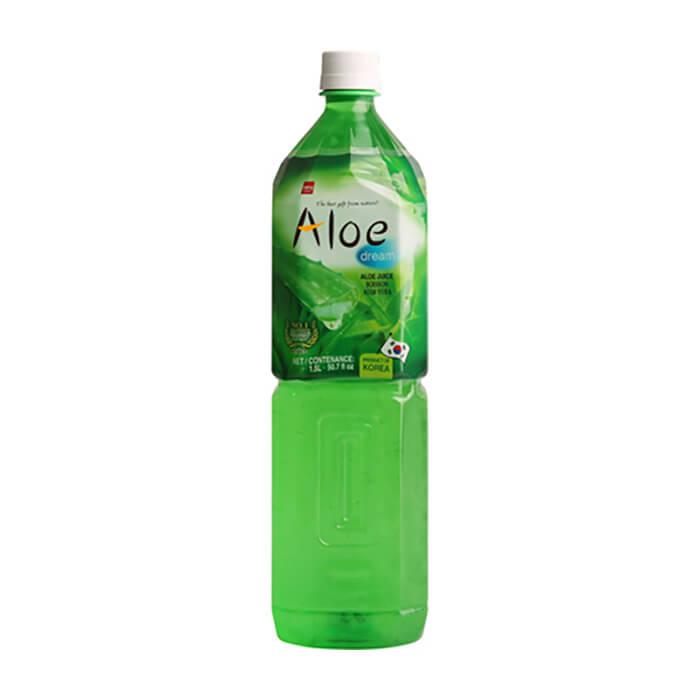Купить Напиток с соком алоэ Samjin Wang Aloe Dream (1, 5 л), Безалкогольный освежающий напиток с соком и мякотью алоэ вера, Продукты, Южная Корея