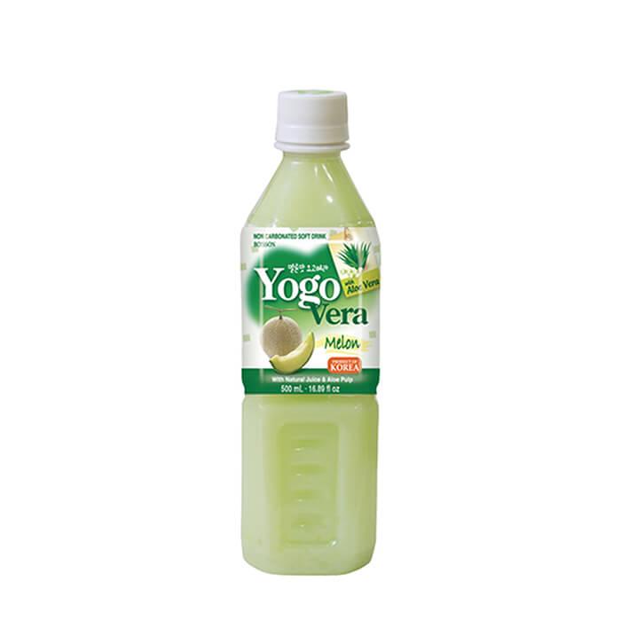 Купить Напиток Samjin Yogovera Мelon, Освежающий напиток на основе алоэ со вкусом дыни, Продукты, Южная Корея
