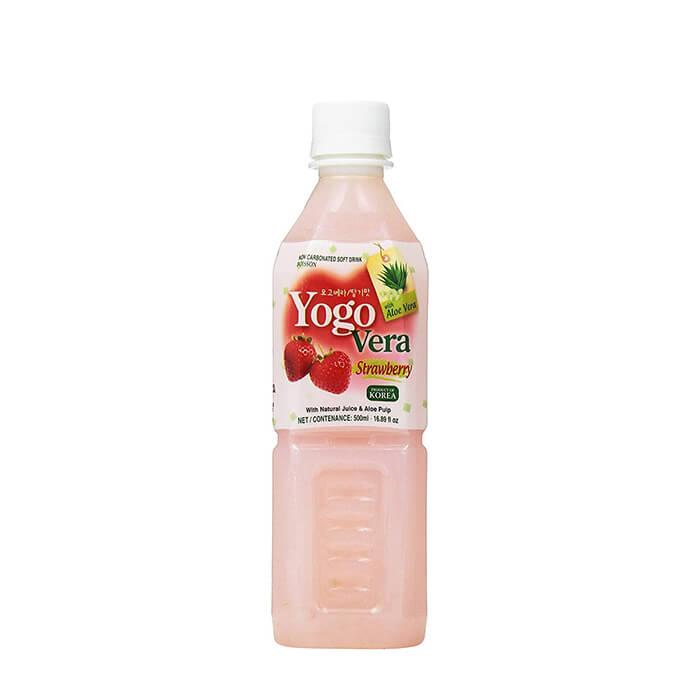 Купить Напиток Samjin Yogovera Strawberry, Освежающий напиток на основе алоэ со вкусом клубники, Продукты, Южная Корея