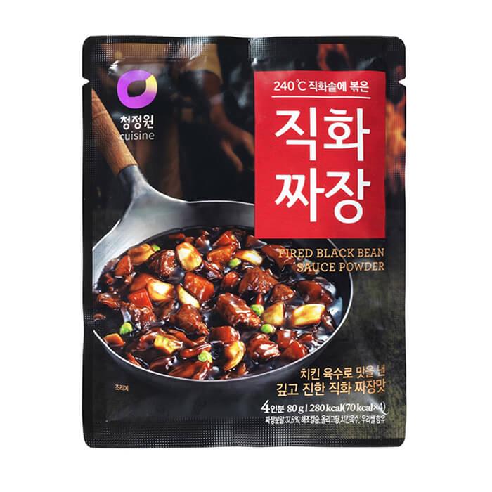 Основа для соуса Daesang Fried Black Bean Sauce Powder Порошковая основа для приготовления соуса из чёрных соевых бобов фото