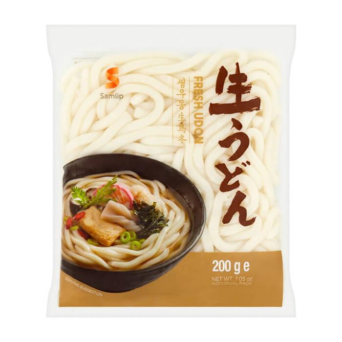 Пшеничная лапша Samlip Sanuki Fresh Udon Noodle Готовая пшеничная лапша удон без добавления приправ в индивидуальной упаковке фото