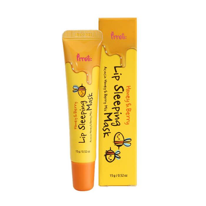 Купить Ночная маска для губ Prreti Honey&Berry Lip Sleeping Mask, Ночная маска для губ на основе пчелиного воска, Южная Корея
