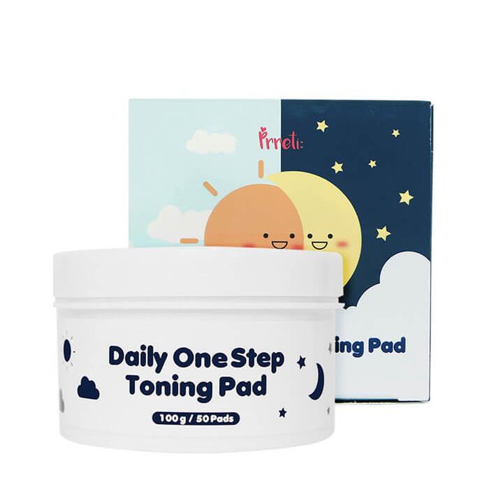 Купить Очищающие диски Pretti Daily Onestep Toning Pads, Подушечки для очищения лица с экстрактом алоэ вера, Prreti, Южная Корея