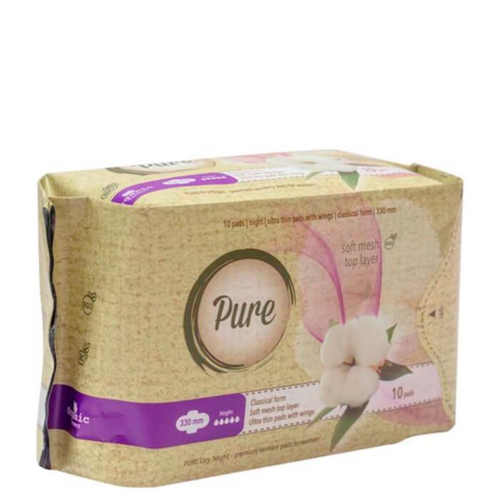 Купить Гигиенические прокладки Pure Dry Night (33 см), Ночные ультратонкие дышащие органические прокладки 10 шт, Китай