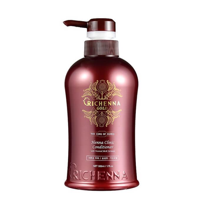 Купить Кондиционер для волос Richenna Gold Henna Clinic Conditioner (500 мл), Кондиционер для волос с 10% экстрактом хны и комплексом восточных трав, Южная Корея
