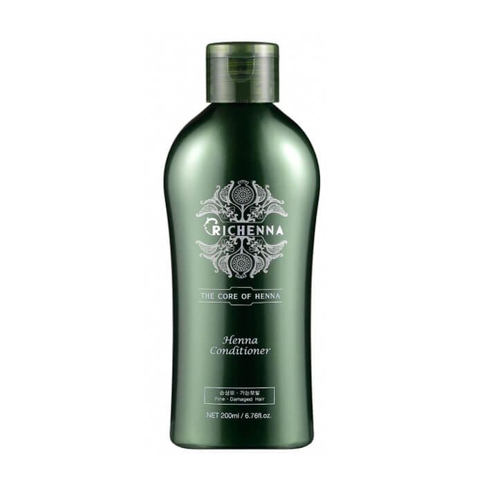 Купить Кондиционер для волос Richenna Henna Conditioner (200 мл), Восстанавливающий кондиционер для волос с 10% экстрактом хны, Южная Корея