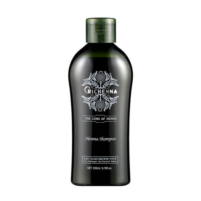 Шампунь для волос Richenna Henna Shampoo (200 мл) Восстанавливающий шампунь для волос с 10% экстрактом хны