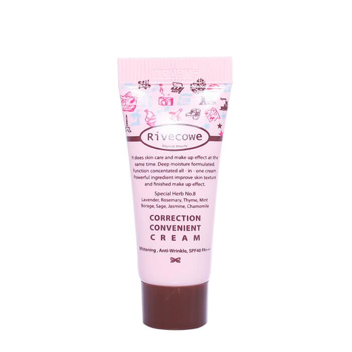 СС крем Rivecowe Correction Convenient Cream (5 мл) Солнцезащитный тональный СС крем для лица с комплексом трав фото