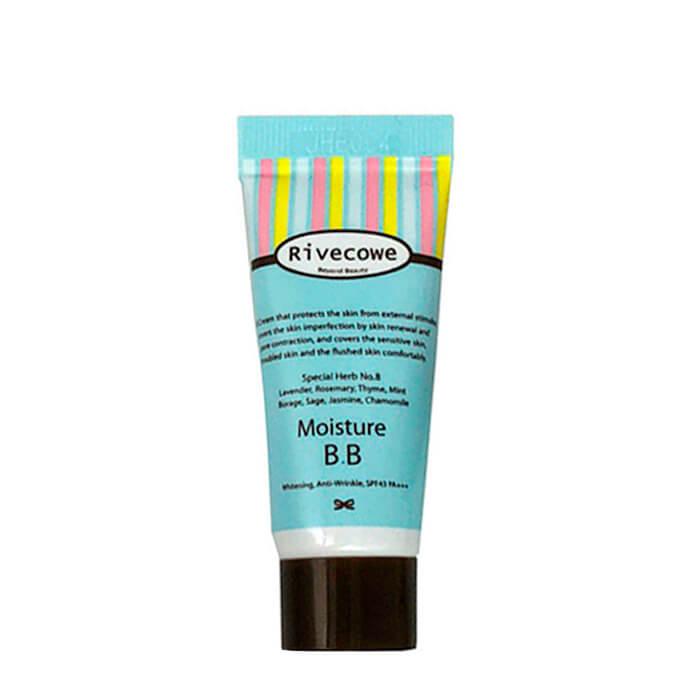 Купить ВВ крем Rivecowe Moisture BB (5 мл), Тональный BB крем для лица с солнцезащитным фактором, Южная Корея