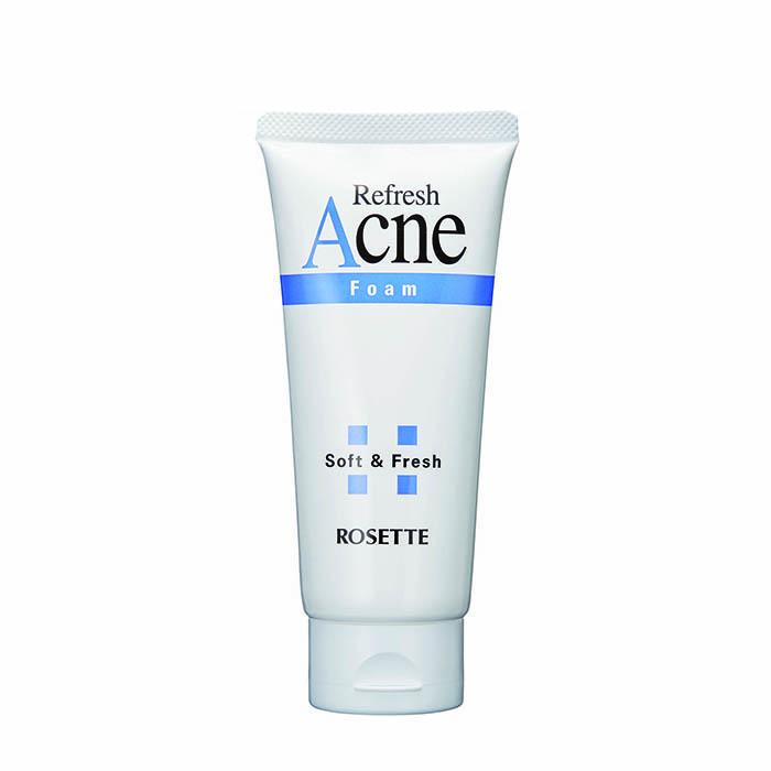 Купить Пенка для умывания Rosette Refresh Acne Foam, Пенка для очищения проблемной подростковой кожи с натуральной серой, Япония