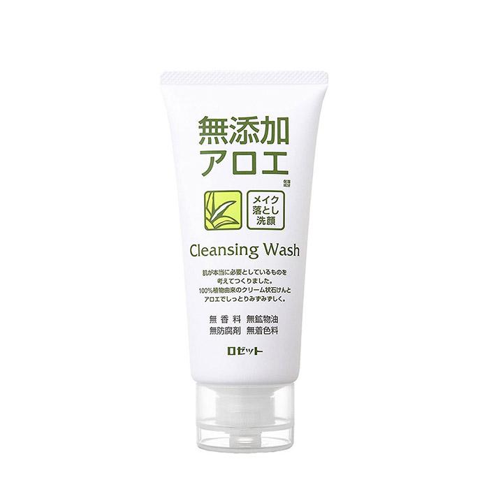 Купить Пенка для умывания Rosette Makeup Removing Facial Cleansing Foam Aloe, Кремовая пенка для умывания и снятия макияжа с экстрактом алоэ, Япония