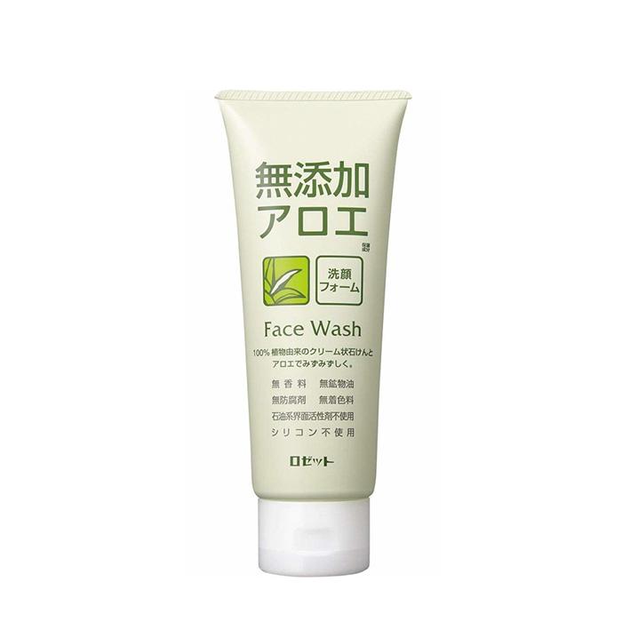 Купить Пенка для умывания Rosette Additive-Free Aloe Face Wash Foam, Кремовая пенка для умывания кожи лица с экстрактом алоэ, Япония
