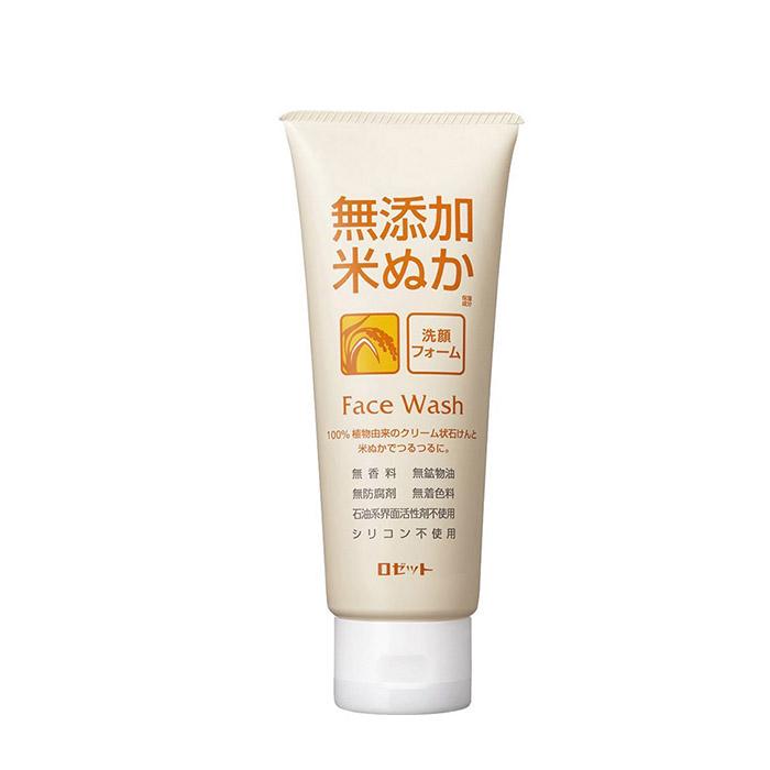 Купить Пенка для умывания Rosette Additive-Free Rice Face Wash Foam, Кремовая пенка для умывания кожи лица с экстрактом риса, Япония