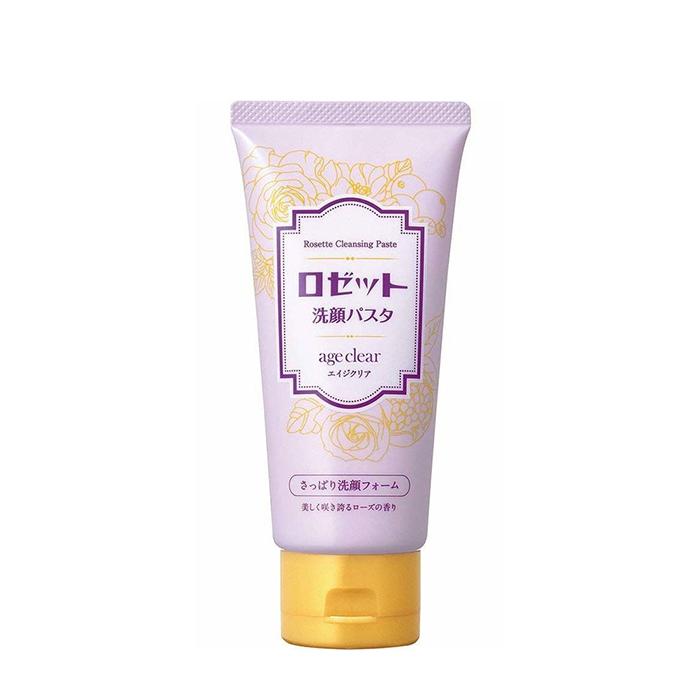 Купить Пенка для умывания Rosette Cleansing Paste Age Clear Foam, Очищающая антивозрастная пенка для нормальной и жирной кожи лица с ароматом розы, Япония