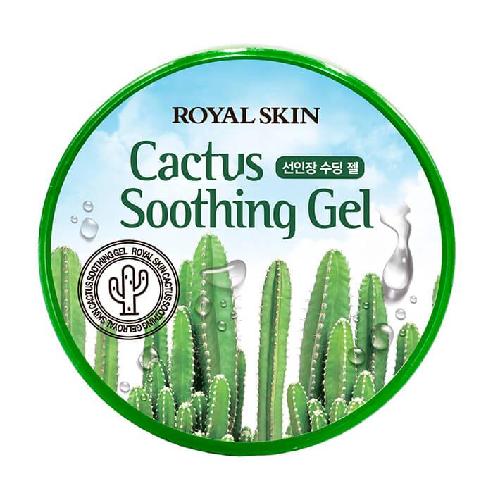 Купить Гель с кактусом Royal Skin Cactus Soothing Gel, Многофункциональный увлажняющий гель для лица и тела с экстрактом кактуса, Южная Корея