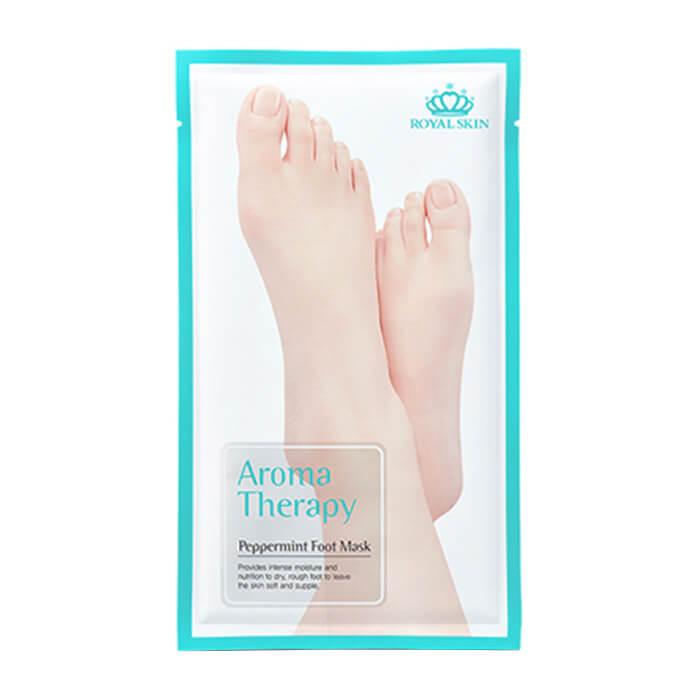 Купить Маска для ног Royal Skin Aromatherapy Peppermint Foot Mask, Интенсивно тонизирующие носочки для ног с экстрактом мяты, Южная Корея
