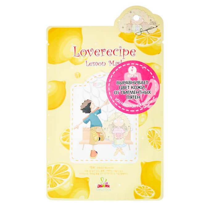 Купить Тканевая маска Sally's Box Loverecipe Lemon Mask, Тканевая маска для лица с с экстрактом лимона, Южная Корея
