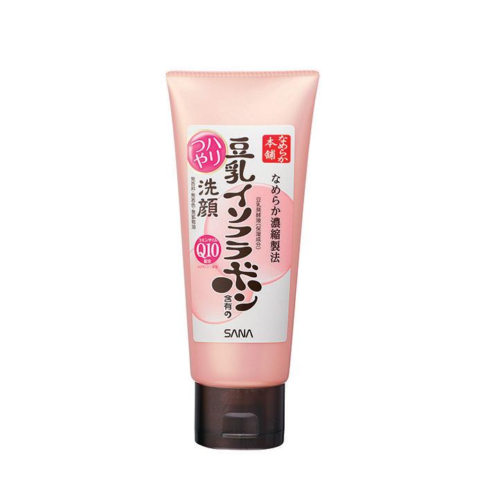 Купить Пенка для умывания Sana Soy Milk Moisture Cleansing Wash, Очищающая пенка для кожи лица с изофлавонами сои и капсулированным коэнзимом Q10, Япония
