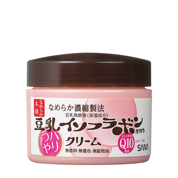 Купить Крем для лица Sana Soy Milk Haritsuya Cream, Увлажняющий крем для кожи лица с изофлавонами сои и капсулированным коэнзимом Q10, Япония