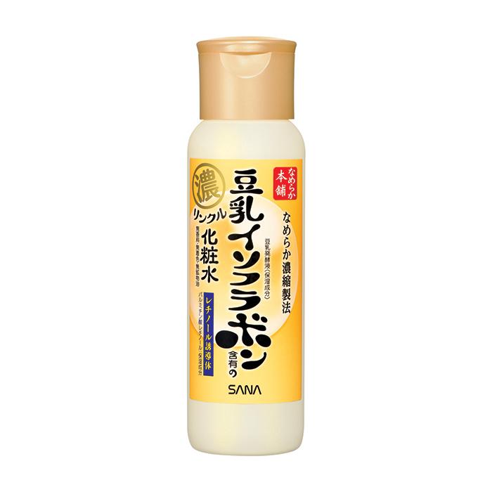 Купить Лосьон для лица Sana Nameraka Honpo Wrinkle Lotion, Увлажняющий и подтягивающий лосьон для кожи лица с ретинолом и изофлавонами сои, Япония