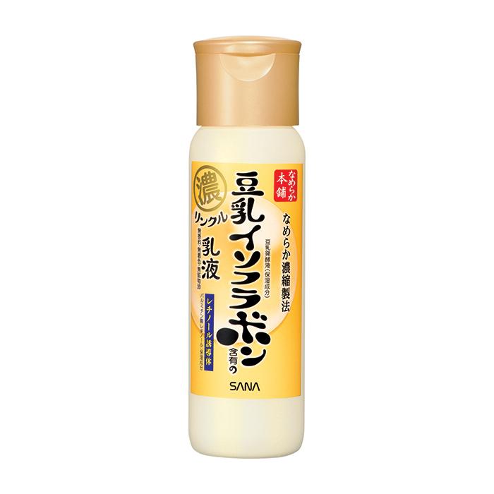 Купить Молочко для лица Sana Nameraka Honpo Wrinkle Milk, Увлажняющее и подтягивающее молочко для кожи лица с ретинолом и изофлавонами сои, Япония
