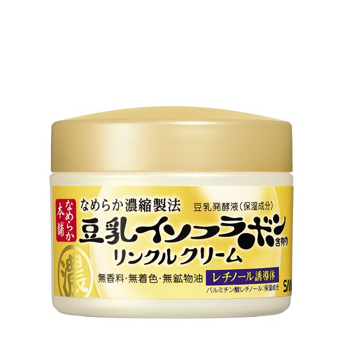 Купить Крем для лица Sana Nameraka Honpo Wrinkle Cream, Увлажняющий и подтягивающий крем для кожи лица с ретинолом и изофлавонами сои, Япония