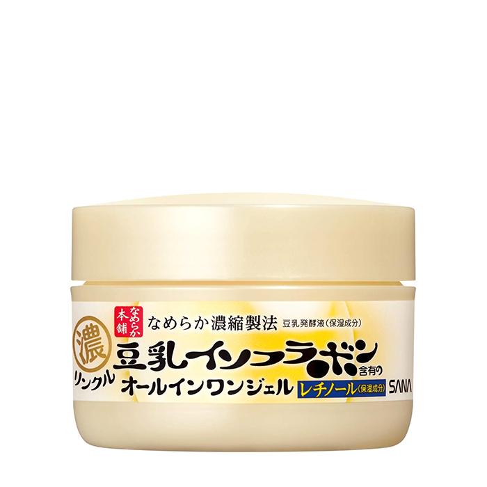 Купить Крем-гель для лица Sana Soy Milk Gel Cream, Увлажняющий крем-гель для кожи лица с изофлавонами сои 6 в 1, Япония