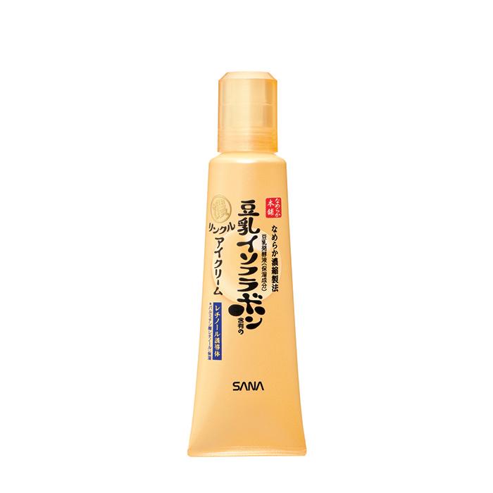 Купить Крем-эссенция для век Sana Nameraka Honpo Wrinkle Eye Cream, Увлажняющий и подтягивающий крем-эссенция для кожи век с ретинолом и изофлавонами сои, Япония