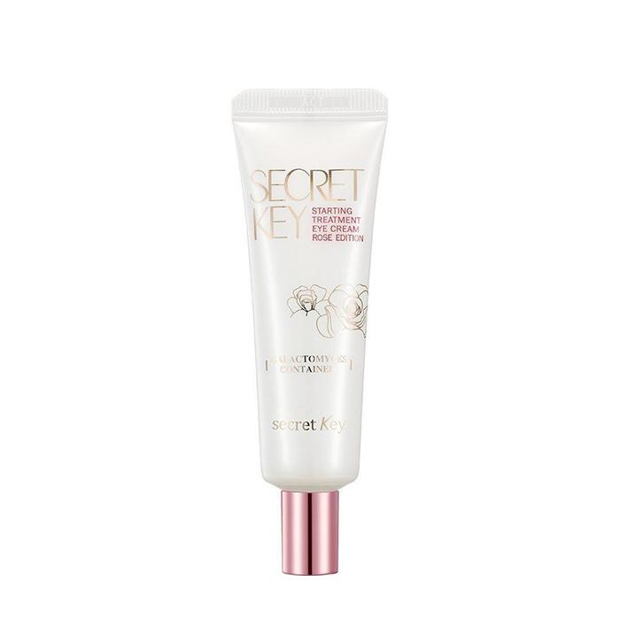 Купить Крем для век Secret Key Starting Treatment Rose Facial Eye Cream, Питательный крем для кожи вокруг глаз с аденозином и фильтратом галактомисиса, Южная Корея