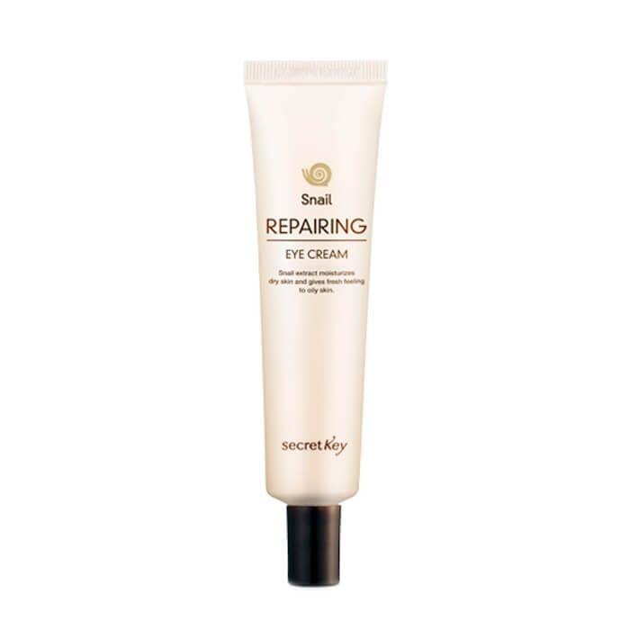 Купить Крем для глаз Secret Key Snail Repairing Eye Cream, Восстанавливающий крем для кожи вокруг глаз с экстрактом слизи улитки, Южная Корея
