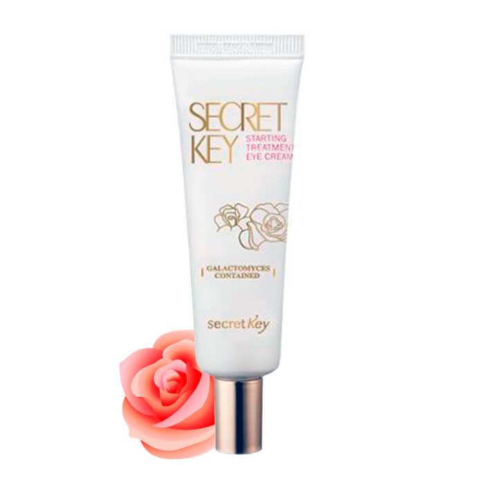 Купить Крем для глаз Secret Key Starting Treatment Eye Cream (Rose Edition), Многофункциональный антивозрастной крем для глаз с эффектом осветления и розовой водой, Южная Корея