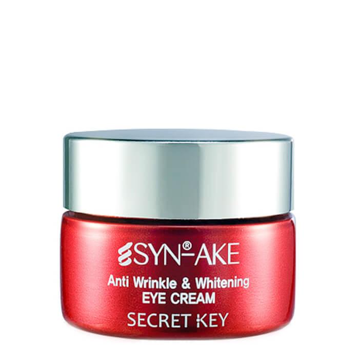 Купить Крем для глаз Secret Key Syn-Ake Anti Wrinkle & Whitening Eye Cream, Антивозрастной крем для кожи вокруг глаз с пептидом змеиного яда, Южная Корея