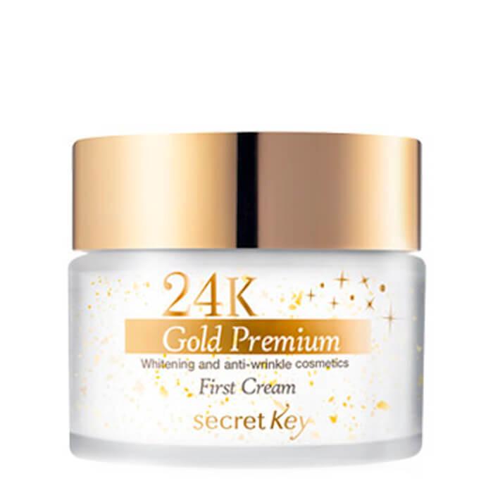 Купить Крем для лица Secret Key 24K Gold Premium First Cream, Антивозрастной крем для лица с экстрактом коллоидного золота, Южная Корея