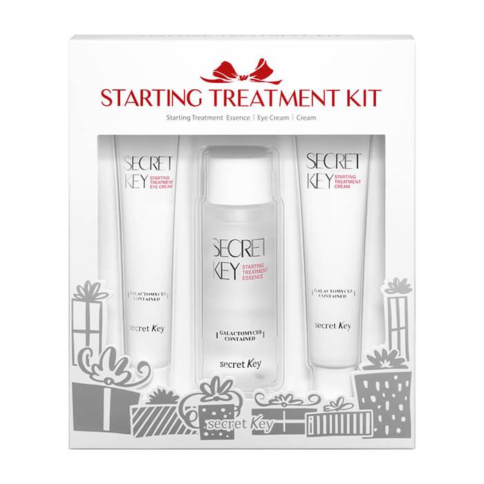 Купить Набор для лица Secret Key Starting Treatment Kit, Набор из 3 продуктов для восстановления кожи лица с антивозрастным эффектом, Южная Корея