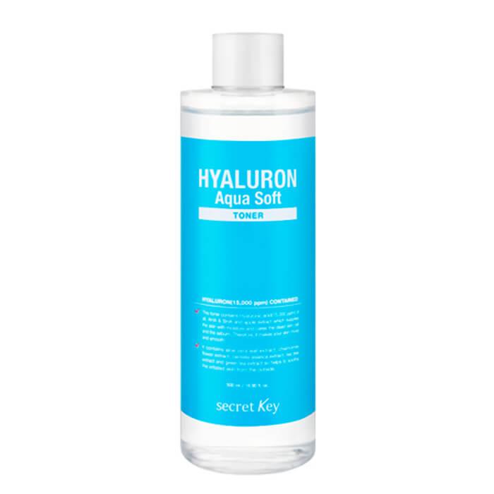 Купить Тонер для лица Secret Key Hyaluron Aqua Soft Toner, Гиалуроновый тонер для лица с отшелушивающим эффектом, Южная Корея