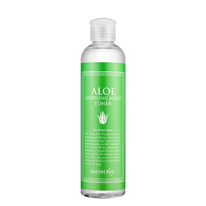 Купить Тонер для лица Secret Key Aloe Soothing Moist Toner, Натуральный увлажняющий тонер для лица с 98% экстрактом алоэ вера, Южная Корея