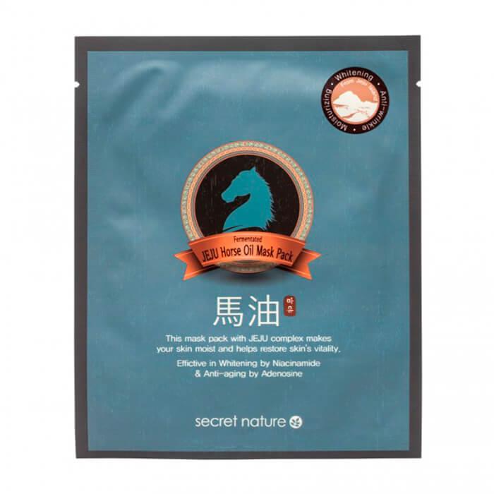 Купить Тканевая маска Secret Nature Horse Mask Sheet, Тканевая маска для лица с экстрактом лошадиного масла, Южная Корея