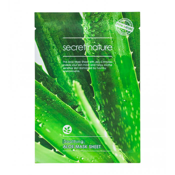 Тканевая маска Secret Nature Soothing Aloe Mask Sheet, Смягчающая тканевая маска для лица с экстрактом алоэ, Южная Корея  - Купить